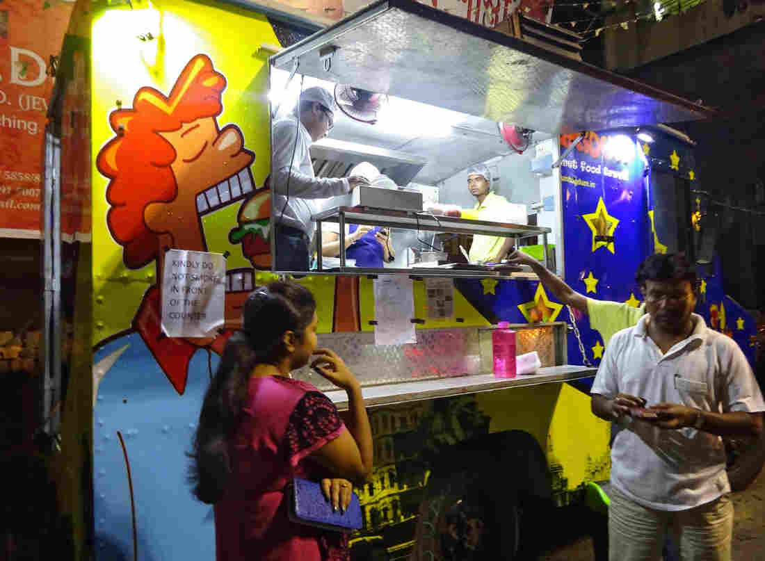 Kolkata now has its first food truck: Agdum Bagdum. Its owners, two foodies who quit pharmaceutical jobs to become food truckers, were inspired by America's food truck craze – which, of course, was inspired by street food in places like Kolkata.